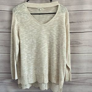 Maurices Cream Soft Long Sleeve Knit Sweater